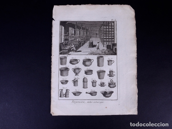 Arte: FAYENCERIE, 10 GRABADOS. ENCICLOPEDIA DIDEROT 1783 - Foto 5 - 183008770