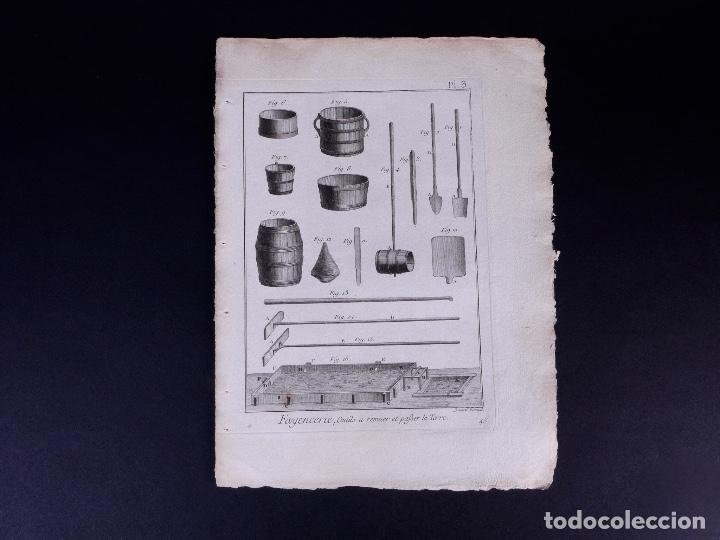Arte: FAYENCERIE, 10 GRABADOS. ENCICLOPEDIA DIDEROT 1783 - Foto 6 - 183008770
