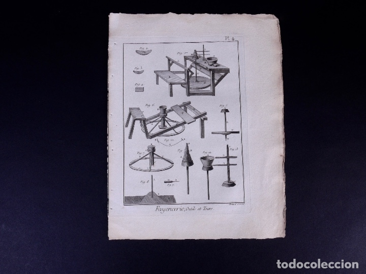 Arte: FAYENCERIE, 10 GRABADOS. ENCICLOPEDIA DIDEROT 1783 - Foto 7 - 183008770