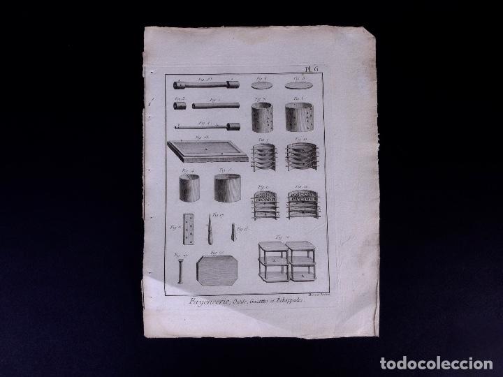 Arte: FAYENCERIE, 10 GRABADOS. ENCICLOPEDIA DIDEROT 1783 - Foto 9 - 183008770