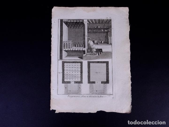 Arte: FAYENCERIE, 10 GRABADOS. ENCICLOPEDIA DIDEROT 1783 - Foto 10 - 183008770