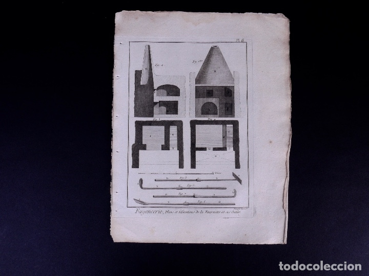 Arte: FAYENCERIE, 10 GRABADOS. ENCICLOPEDIA DIDEROT 1783 - Foto 11 - 183008770