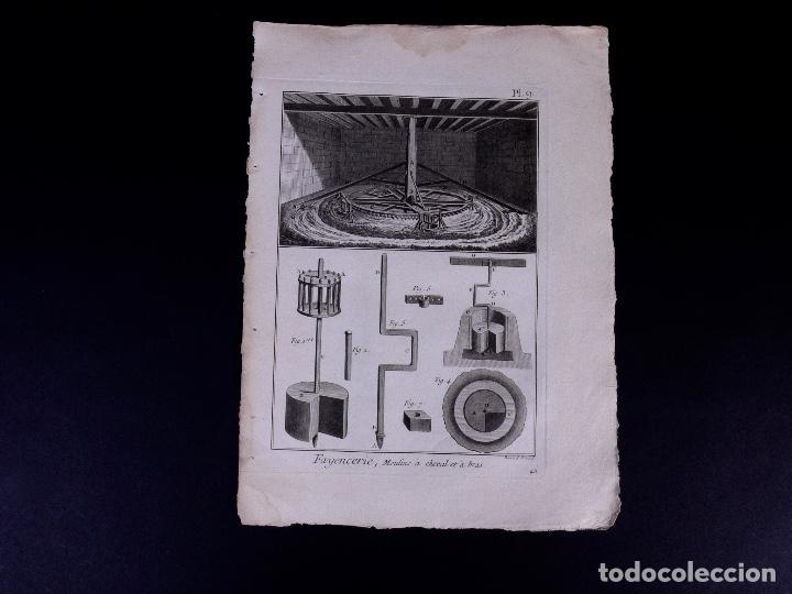 Arte: FAYENCERIE, 10 GRABADOS. ENCICLOPEDIA DIDEROT 1783 - Foto 12 - 183008770