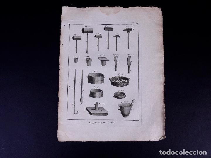 Arte: FAYENCERIE, 10 GRABADOS. ENCICLOPEDIA DIDEROT 1783 - Foto 13 - 183008770