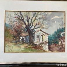 Arte: ACUARELA FIRMADA SAURA MIRA 83 - FULGENCIO - MURCIA. Lote 183208336