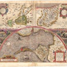 Arte: 1584 MAPA GUIPÚZCOA, CÁDIZ MONTES TOLEDO. THEATRUM ORBIS TERRARUM, ABRAHAM ORTELIUS. Lote 183214691