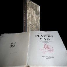 Arte: EBERHARD SCHLOTTER Y JUAN RAMÓN JIMÉNEZ- PLATERO Y YO. EDICIÓN FIRMADA Y NUMERADA. VER IMÁGENES. Lote 183322042