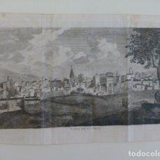 Arte: CUENCA VISTA DE LA CIUDAD GRABADO HACIA 1770 16 X 27 CMTS MUY BUEN ESTADO RARO. Lote 183385276