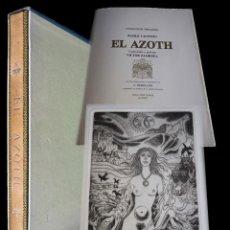 Arte: CELEDONIO PERELLÓN. EL AZOTH. CON 10 AGUAFUERTES ORIGINALES, FIRMADOS Y NUMERADOS.1977. Lote 183468521