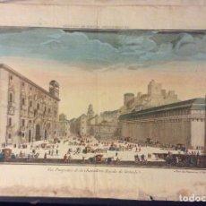 Arte: GRABADO ANTIGUO VUE PERPECTIVE DE LA CHANCILLERIE ROYALE DE GRANADA 1770-MEDIDA 48X32 CM. Lote 183486556