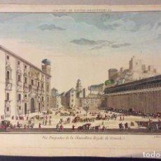 Arte: GRABADO VUE PERSPECTIVE DE LA CHANCILLERÍA ROYALE DE GRANADA.SIGLO XVIII-MEDIDA 49 X 29 CM. Lote 183487392