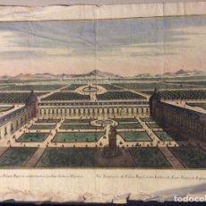 Arte: GRABADO VUE PERSPECTIVE DU PALAIS ROYAL ET DES JARDINS DU BUEN RETIRO ,EN ESPAGNE SIGLO XVIII. Lote 183488101