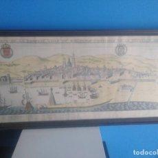 Arte: ANTIGUO GRABADO DE BARCELONA 1845 COLOREADO ? . Lote 183556421