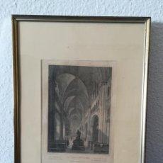 Arte: GRABADO DEL INTERIOR DE LA IGLESIA CATEDRAL BONN (ALEMANIA), 1832. Lote 183583116