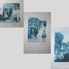 Arte: JOSÉ CASTELLANOS.- LOTE DE TRES GRABADOS GROTESCO-SURREALISTAS ORIGINALES (VER FOTOS ADICIONALES). Lote 183594235