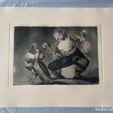 Arte: FRANCISCO DE GOYA , AGUAFUERTE ORIGINAL , 10 EDICION , PROVERBIO 4 , CALCOGRAFIA NACIONAL. Lote 183595985