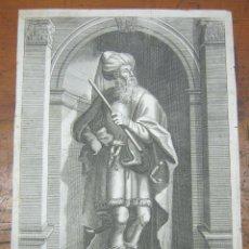 Arte: FLAVIO JOSEFO - EL ERUDITO JUDIO - JOSEPHUS THE LEARNED WARLIKE JEW - GRABADO S.XVIII. Lote 183704205