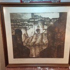 Arte: GRABADO CASTRO GIL. CIUDAD CASTELLANA. MEDALLA DE PLATA DE EXP. NACIONAL DE BELLAS ARTES MADRID 1925. Lote 183748372