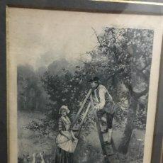 Arte: GRABADO CON MOTIVO HOLANDES POR SUS ROPAS. Lote 183779113