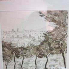 Arte: PANORÁMICA DE BARCELONA POR JORDI PAGANS MONTSALVATGE. Lote 183800357