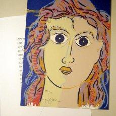 Arte: GIMFERRER, PERE - PLANA, MIQUEL - BORRASCA - OLOT 1996 - GRAVAT DE MIQUEL PLANA - FIRMAT I NUMERAT. Lote 183812247