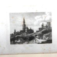 Arte: GRABADO CALCOGRAFICO CARMONA. SEVILLA. SIGLO XIX. Lote 183812607