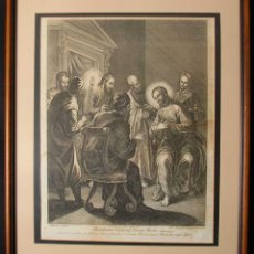 Arte: SIGLO XVIII GRABADO ORIGINAL DE HAMLET WINSTANLEY. Lote 183814846