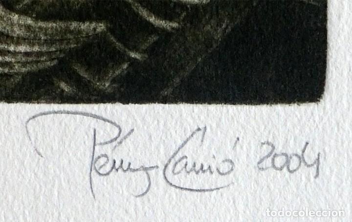 Arte: RAMÓN PÉREZ CARRIÓ - DON QUIJOTE - GRABADO CALCOGRÁFICO - NUMERADO 42/100 - FIRMADO Y FECHADO - 2004 - Foto 3 - 183831480