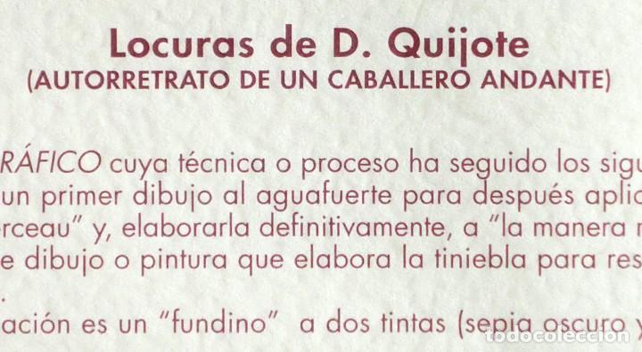 Arte: RAMÓN PÉREZ CARRIÓ - DON QUIJOTE - GRABADO CALCOGRÁFICO - NUMERADO 42/100 - FIRMADO Y FECHADO - 2004 - Foto 5 - 183831480