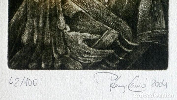 Arte: RAMÓN PÉREZ CARRIÓ - DON QUIJOTE - GRABADO CALCOGRÁFICO - NUMERADO 42/100 - FIRMADO Y FECHADO - 2004 - Foto 12 - 183831480