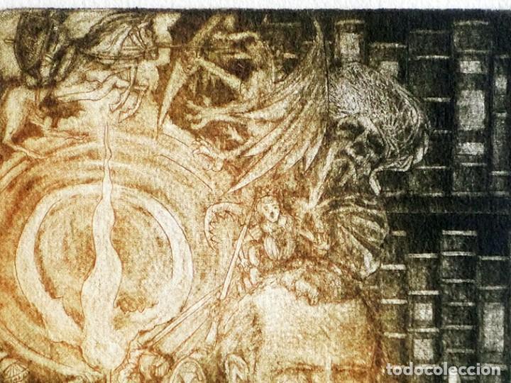 Arte: RAMÓN PÉREZ CARRIÓ - DON QUIJOTE - GRABADO CALCOGRÁFICO - NUMERADO 42/100 - FIRMADO Y FECHADO - 2004 - Foto 14 - 183831480