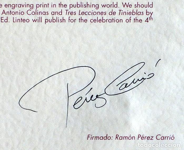 Arte: RAMÓN PÉREZ CARRIÓ - DON QUIJOTE - GRABADO CALCOGRÁFICO - NUMERADO 42/100 - FIRMADO Y FECHADO - 2004 - Foto 15 - 183831480