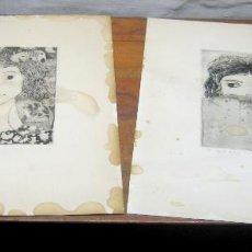 Arte: 65 CM - 2 IMPORTANTES GRABADOS A RESTAURAR !!! - FIRMADOS VILÀ AÑO 1967. Lote 183838326