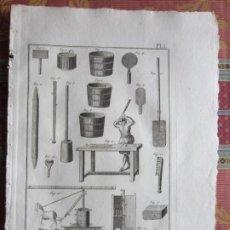 Arte: 1785-PIPAS DE FUMAR.FABRICACIÓN.TABACO.MÁQUINAS,HERRAMIENTAS. 4 GRABADOS ORIGINALES.GRANDES. Lote 183983926