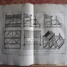 Arte: 1785-ALFARERIA.ALFARERO.CERAMICA.MÁQUINAS,HERRAMIENTAS.UTENSILIOS. 9 GRABADOS ORIGINALES.GRANDES. Lote 183984462