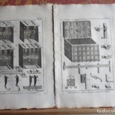 Arte: 1785-CERRAJERÍA.HERRERÍA.CANDADOS.LLAVES.MÁQUINAS,HERRAMIENTAS. 35 GRABADOS ORIGINALES.GRANDES. Lote 183987741