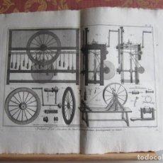 Arte: 1785-HILO DE ORO.FABRICACIÓN.COSTURA.MÁQUINAS,HERRAMIENTAS. 6 GRABADOS ORIGINALES.GRANDES. Lote 183991390