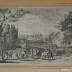 Arte: (M) GRABADO FRANCÉS - BON VOYAGE, RIGAUD JAU SCULP, PAISAJE PINTORESCO, 27,5X19 CM. Lote 184113476