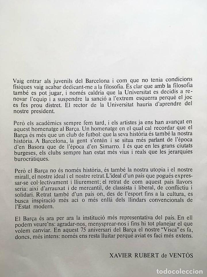 Arte: Edición de lujo Homenaje FCBarcelona con grabados originales de Dalí, Corberó,Artigau,Gandy-Artigas - Foto 2 - 184248945