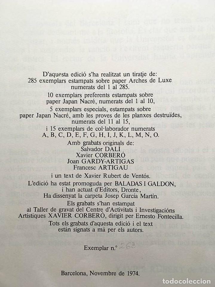Arte: Edición de lujo Homenaje FCBarcelona con grabados originales de Dalí, Corberó,Artigau,Gandy-Artigas - Foto 3 - 184248945