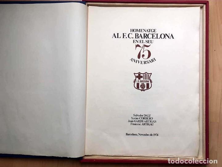 Arte: Edición de lujo Homenaje FCBarcelona con grabados originales de Dalí, Corberó,Artigau,Gandy-Artigas - Foto 5 - 184248945