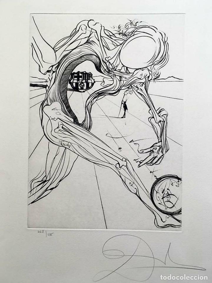 Arte: Edición de lujo Homenaje FCBarcelona con grabados originales de Dalí, Corberó,Artigau,Gandy-Artigas - Foto 8 - 184248945
