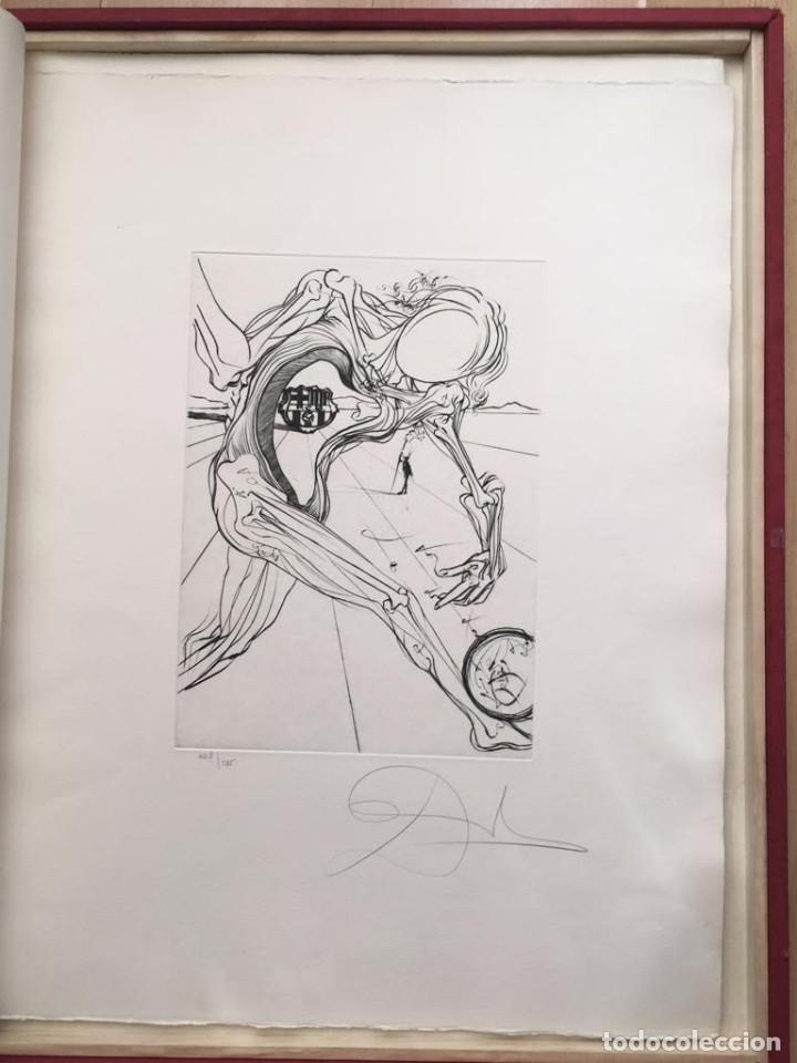 Arte: Edición de lujo Homenaje FCBarcelona con grabados originales de Dalí, Corberó,Artigau,Gandy-Artigas - Foto 9 - 184248945