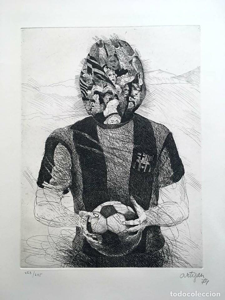 Arte: Edición de lujo Homenaje FCBarcelona con grabados originales de Dalí, Corberó,Artigau,Gandy-Artigas - Foto 12 - 184248945
