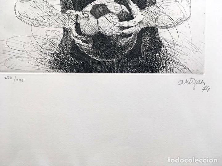 Arte: Edición de lujo Homenaje FCBarcelona con grabados originales de Dalí, Corberó,Artigau,Gandy-Artigas - Foto 13 - 184248945