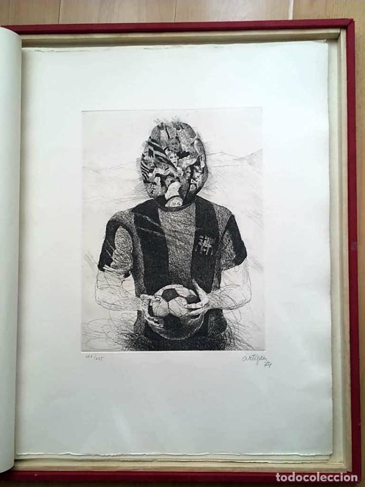 Arte: Edición de lujo Homenaje FCBarcelona con grabados originales de Dalí, Corberó,Artigau,Gandy-Artigas - Foto 15 - 184248945