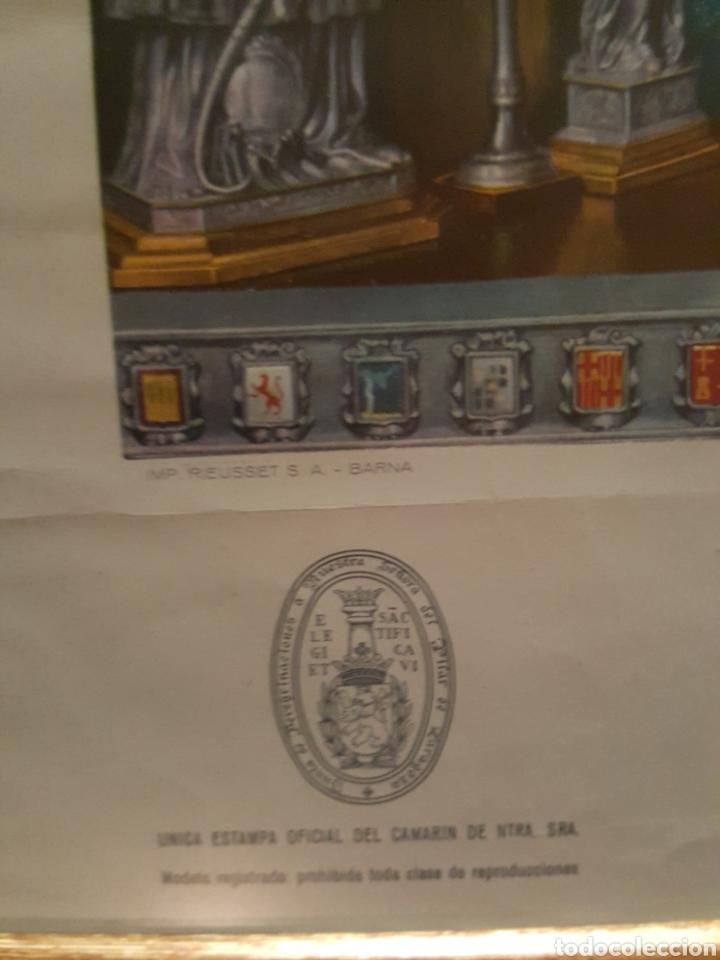 Arte: Escasísima estampa Virgen del Pilar. Zaragoza. Enmarcada. Autografiada Arzobispo Rigoberto. 1940 - Foto 3 - 184265781