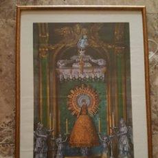 Arte: ESCASÍSIMA ESTAMPA VIRGEN DEL PILAR. ZARAGOZA. ENMARCADA. AUTOGRAFIADA ARZOBISPO RIGOBERTO. 1940. Lote 184265781