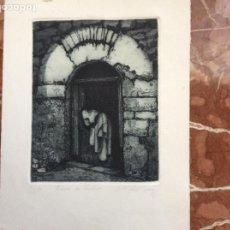 Arte: GRABADO DE GRASA JORDAN PUERTA DE HECHO 17/130 19CMX24CM FIRMADO POR AUTOR. Lote 184266457