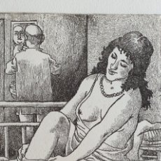 Arte: CELEDONIO PERELLON, PRECIOSO GRABADO ERÓTICO NUMERADO Y FIRMADO.. Lote 184533797